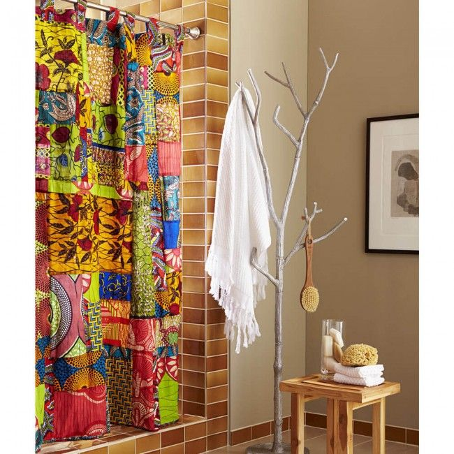 African Print Shower Curtain Vivaterra African Shower