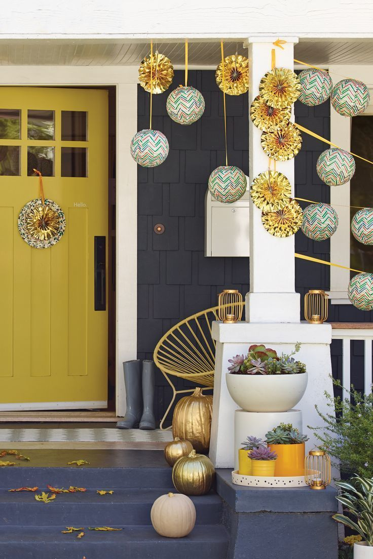 Who wouldn't want an invite to a house party this adorable? Get your front porch party-ready with lanterns and other decor from the Oh Joy for Target collection.