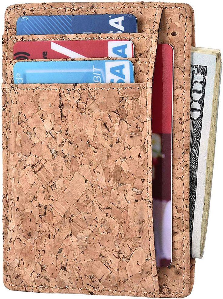 Kinzd slim wallet rfid front pocket minimalist leather