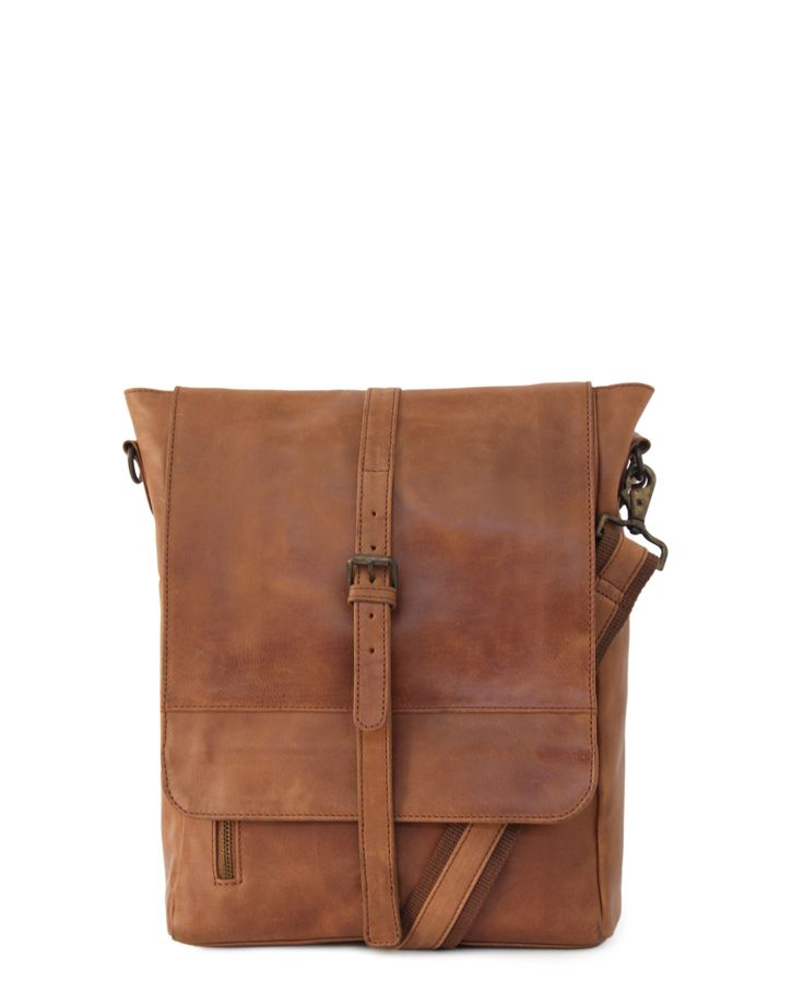 Handcrafted Leather. PostMaster Unisex 13″ bag – Waxy Tan | GoodiesHub.com