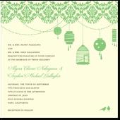 Sweet Lanterns:Melon: Invitations Wedding, Sweet Lanterns Deep, Invitations Letterpress, Lantern Wedding, Wedding Invitation, Sweet Lanterns Melon, Sweet Lanterns In