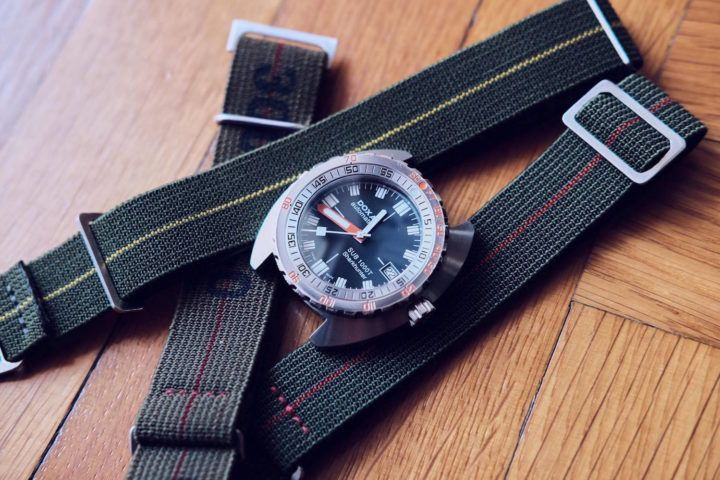 Strap Review - The very cool Marine Nationale Strap from @ErikasOriginals, Perfect for your Dive Watches - Monochrome Watches