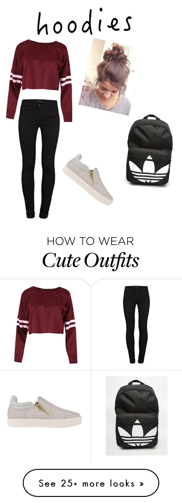 """Lazy outfit"" by covettfashion on Polyvore featuring Ash, J Brand and adidas"