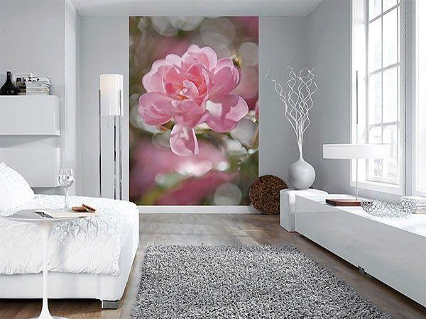Фотобои в интерьере, цветы