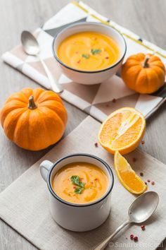 Soupe Potiron, Carotte et Orange  Plus de découvertes sur Le Blog des Tendances.fr #tendance #food #blogueur