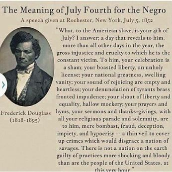 Could any one tell me some important events in Frederick Douglass Life? Or factss?