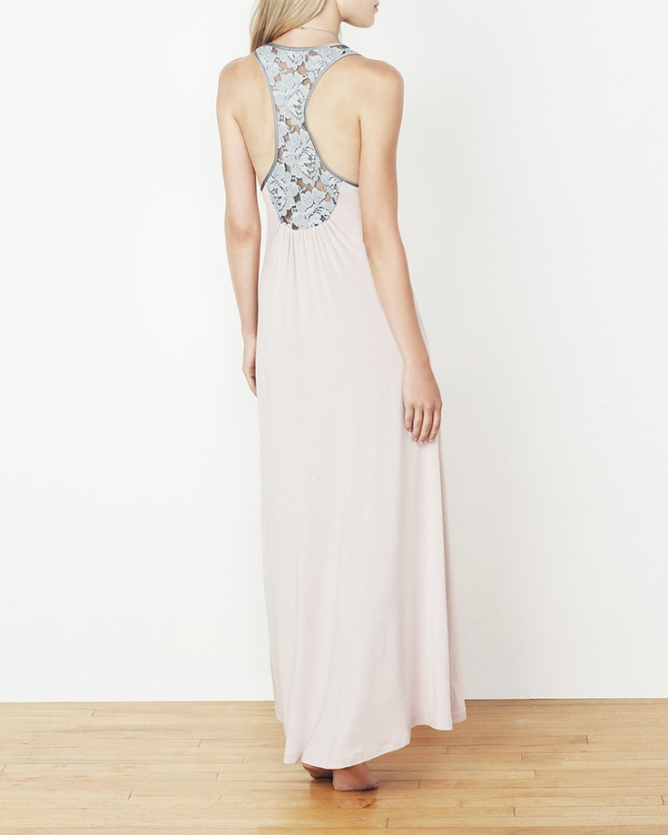 Lace and Satin Pocket Maxi - IntiMint