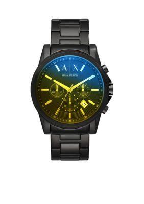 Armani Exchange Ax Men's Men's Black Stainless Steel Chronograph Watch - Black - No Size