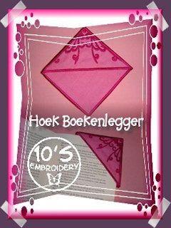 10EMBROIDERY Project Hoekboekenlegger Groene Bladeren (30K)