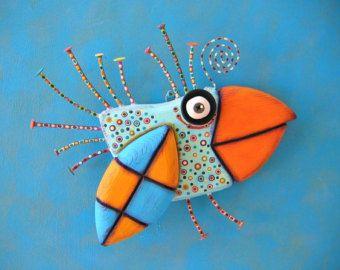 Fish Bones MADE to ORDER Original Found Object by FigJamStudio