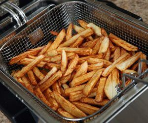 How to lean Deep Fryer: Drain and scrape,  Boil soap water & drain,  Use new soap water (separate container) to scrape remaining, Rinse clean, Use baking soda made into a paste to remove film & exterior Build up.