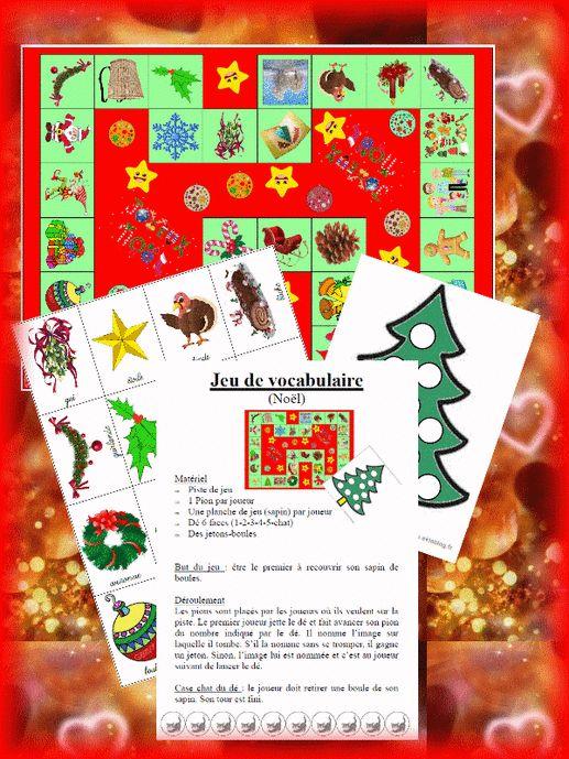 Un jeu de vocabulaire pour Noël                                                                                                                                                                                 Plus