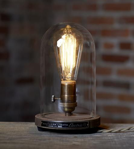 Belle Jar Table Lamp by Southern Lights Electric on Scoutmob Shoppe #industrial