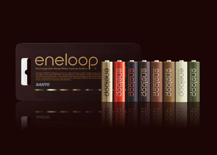 eneloop tones chocolat   Rechargeable Ni-MH battery   Beitragsdetails   iF ONLINE EXHIBITION