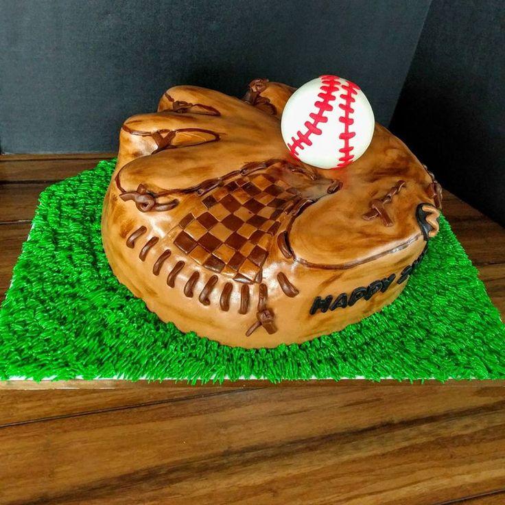 Baseball Glove Cake