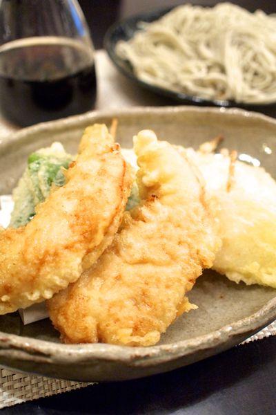 【和食】へぎそば&ささみのとり天&「めんつゆで簡単親子丼」の晩ごはん。