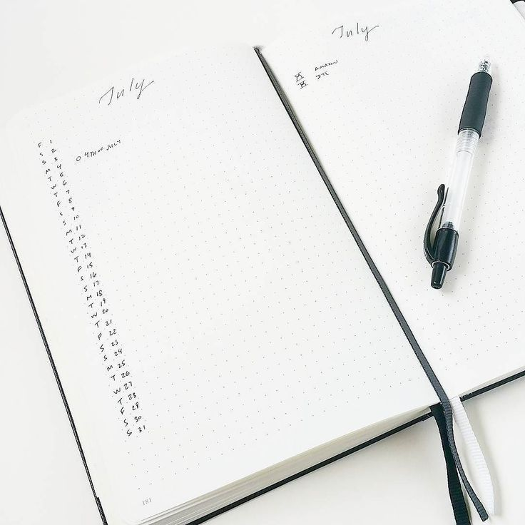 So simple and clean. Stoked about being able to fit in a third month into this Bullet Journal®. Ordered a couple more because they're back in stock hooray!!  Grab yours at http://store.bulletjournal.com! #leuchtturm1917