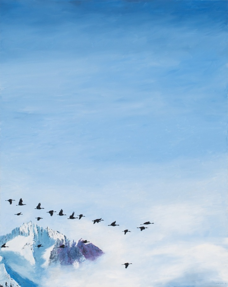 Luan Nel / Migrate / oil on canvas / 88,5 x 70 cm