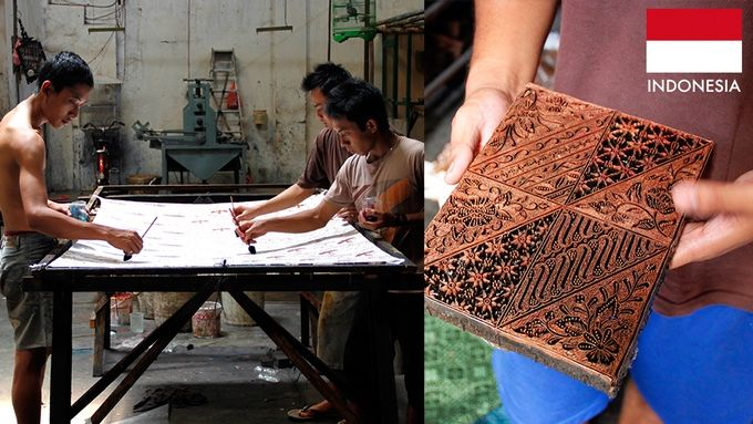 Batik fabric is by Iwan in Surakarta. Iwan builds batik workshops in his artisan's homes instead of requiring them to commute to a factory setting, which increases their happiness, creativity & productivity.