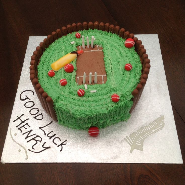 Cricket Birthday Cake With Name Edit