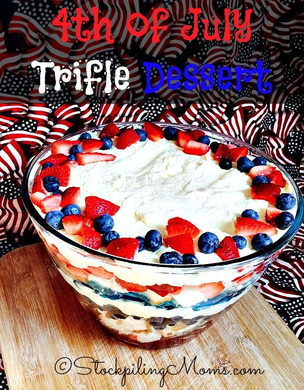 4th of july trifle dessert recipes