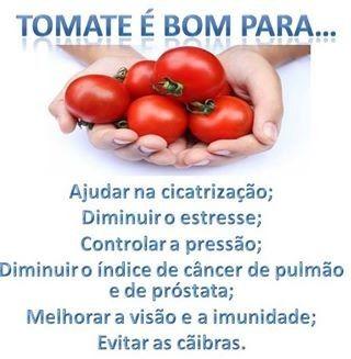tomate é bom para...