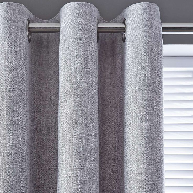 Vermont Dove Grey Lined Eyelet Curtains | Dunelm