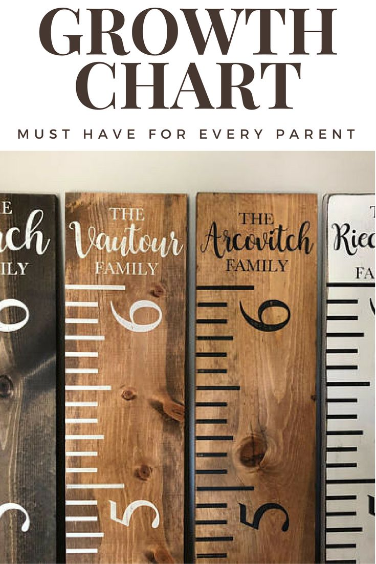 Family Growth Chart Ruler, Rustic, Personalized, (Kids Growth Chart, Wood Ruler Chart, Growth Chart, White Ruler, Stained Ruler #afflink
