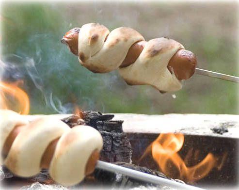 Recette de saucisse sur le feu en camping