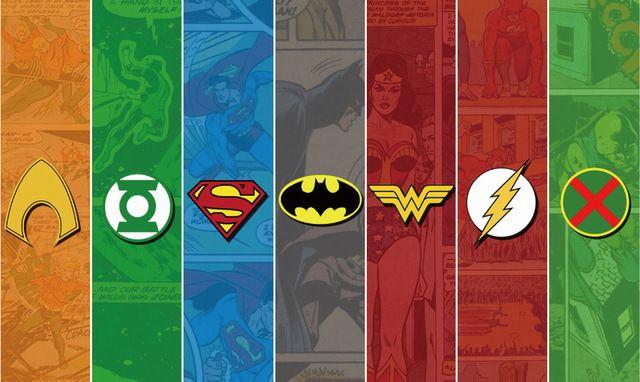 Frete grátis, logotipo Da Liga Da Justiça Marvel, papel de Parede de Seda Poster HD Decoração HOME DA PAREDE Personalizado ART PRINT unframed-352
