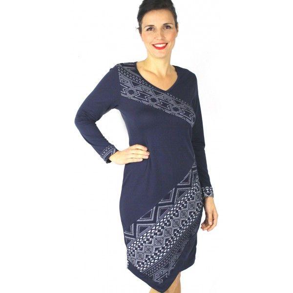 Leon Aztec Asymmetric Dress
