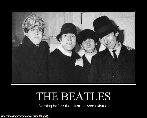 The Beatles Funny The Beatles Derping Funny By
