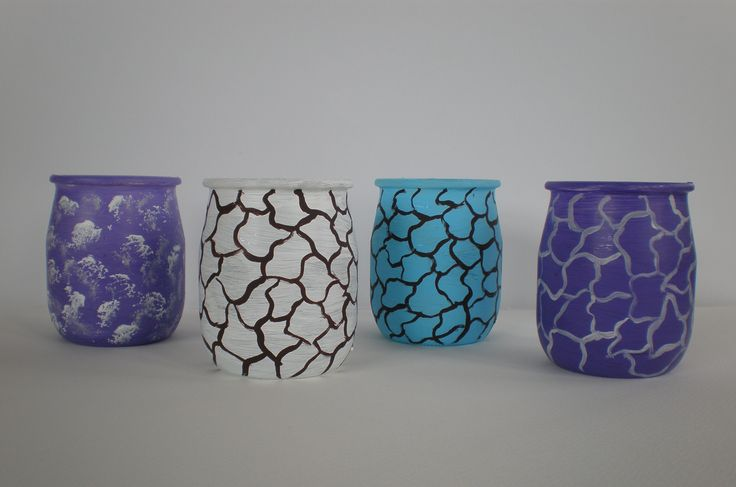 RICICLO CREATIVO nuova vita ai vasetti di yogurt Dana Mincione