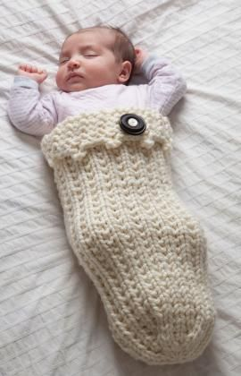 Swaddle Your Baby Cozy Free Knitting Pattern from Red Heart Yarns