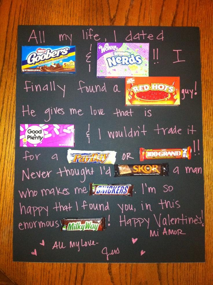 valentine candy gram for my love