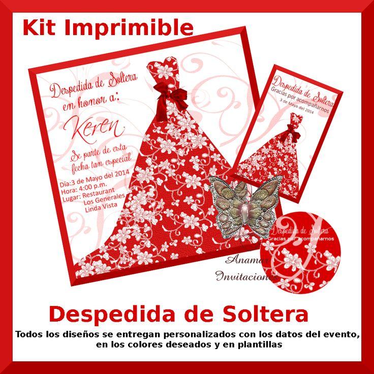 Diseño para Despedida de Soltera Disponible impreso con grabados y pedrería Ó en  Kit imprimible (todos los diseños se entregan personalizados con los datos del evento  en los colores deseados y en plantillas(