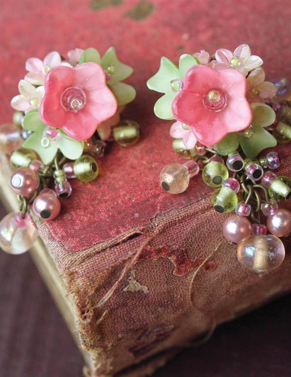 COLLEEN TOLAND PRIMROSE EARRINGS - Pink Flower Earrings