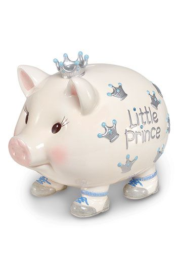 I have bought one of these for all of my nieces and nephews- Mud Pie Ceramic Piggy Bank | Nordstrom