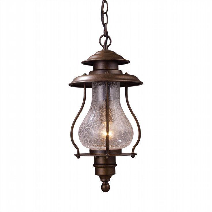 Elk 62006 1 Wikshire Light Outdoor Pendant In Coffee Bronze