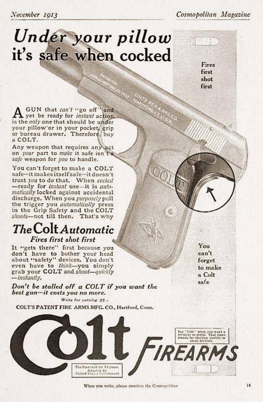 John Browning's 1903 Pocket Model pistol in 32 ACP.
