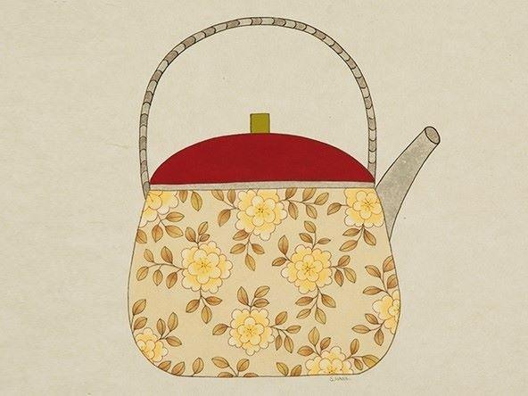 Teapot 한국화 한국의 미술 고양이 그림
