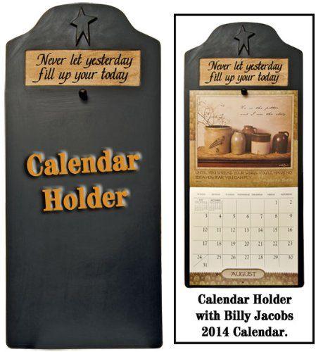 Calendar Holder Primitive Country Rustic Black Generic