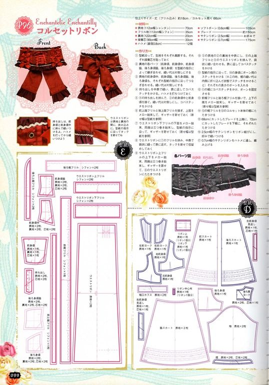 Pin by cass tenou on gothic lolita patterns | Sewing patterns ...