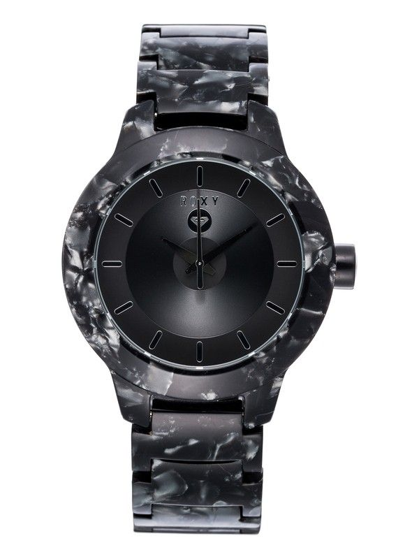 roxy, Baroness, BARONESS J  AMBK (ambk) Baroness - Analogue watch for women EW237BP The nuts and bolts Case: Acetate Case back: Stainless steel with screws Crystal: Reinforced mineral crystal Movement: Japanese 3 hand quartz analogue Strap/Bracelet: acetate Buckle: Marine grade stainless steel Water resistance: 5 atm (50 Metres/165 Feet) Warranty: 2 years Case size: 40 mm Case thickness: 11 mm Weight: 63 g