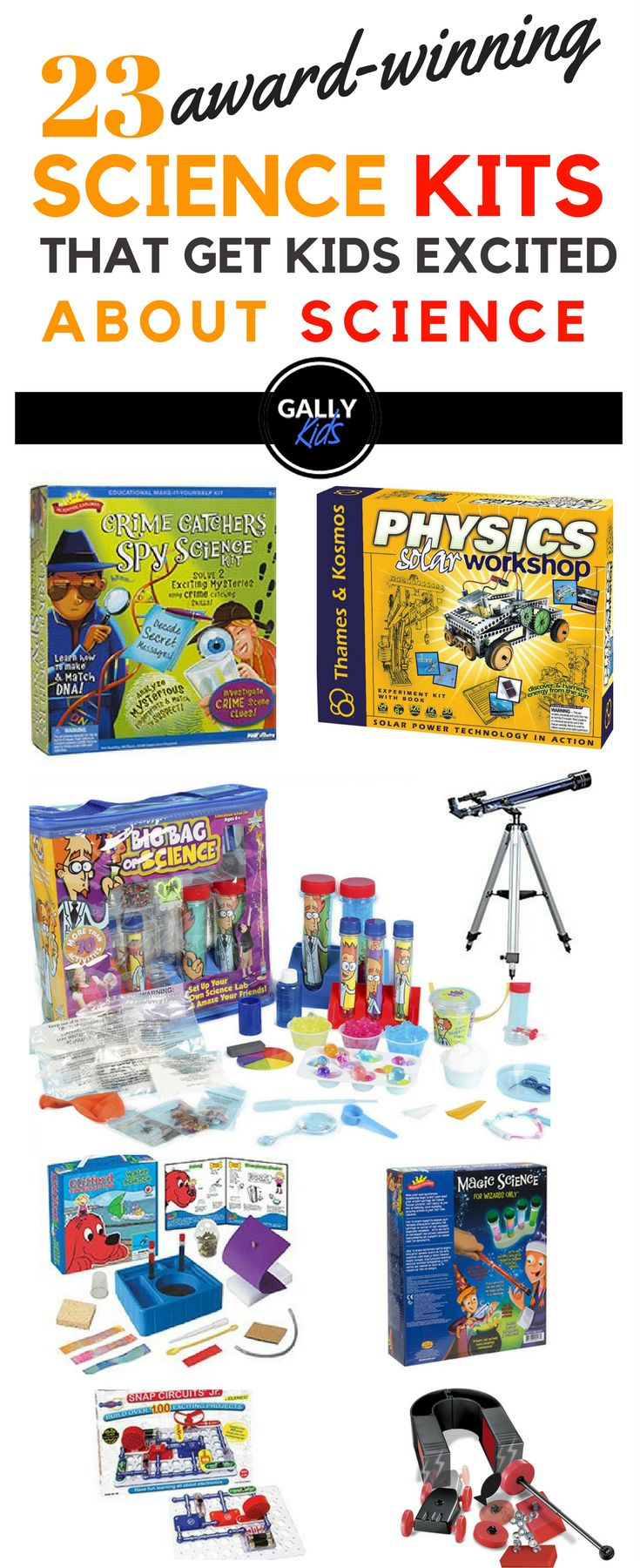 Experiments kits for kids. A list of award-winning sets to make kids interested in Science. Great for STEMactivities and projects. A fun way for kids to grasp Science concepts. Makes a for a great #birthdaygifts and #christmasgifts