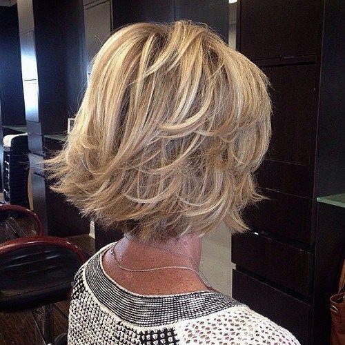 Schnippte Blonde Bob Frisur