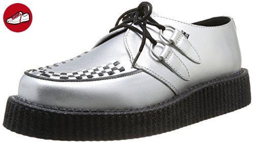 TUK Lo Sole Creeper, Unisex-Erwachsene Sneaker, Silber (Argent (Silver Leather/Black Interlace)), 44 EU (*Partner-Link)