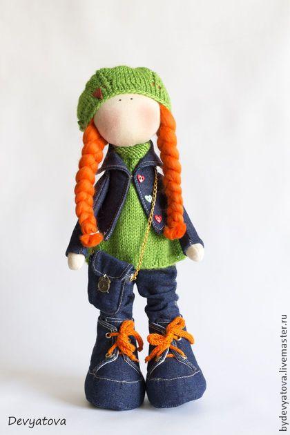 Куклы тыквоголовки ручной работы. Ярмарка Мастеров - ручная работа Куколка Nika. Handmade.