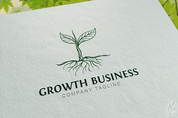 Growth Tree - Logo Template by GoldenCreative on @creativemarket