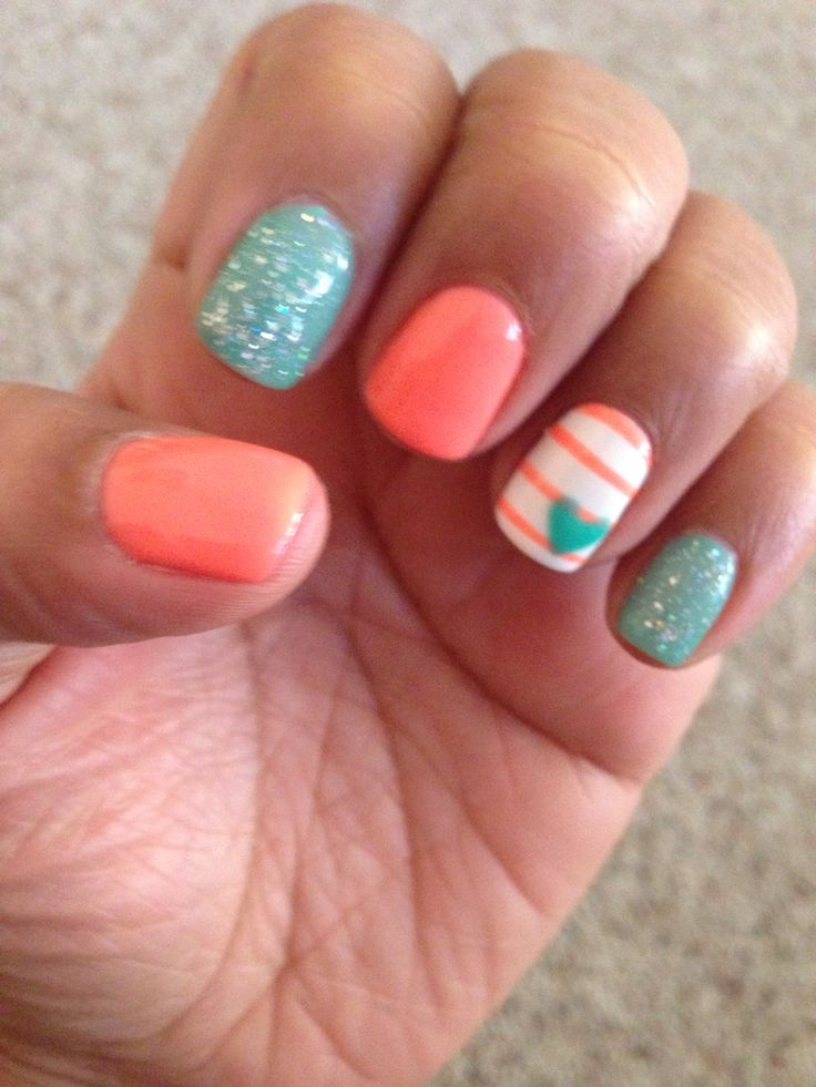 25+ Best Ideas About Coral Gel Nails On Pinterest